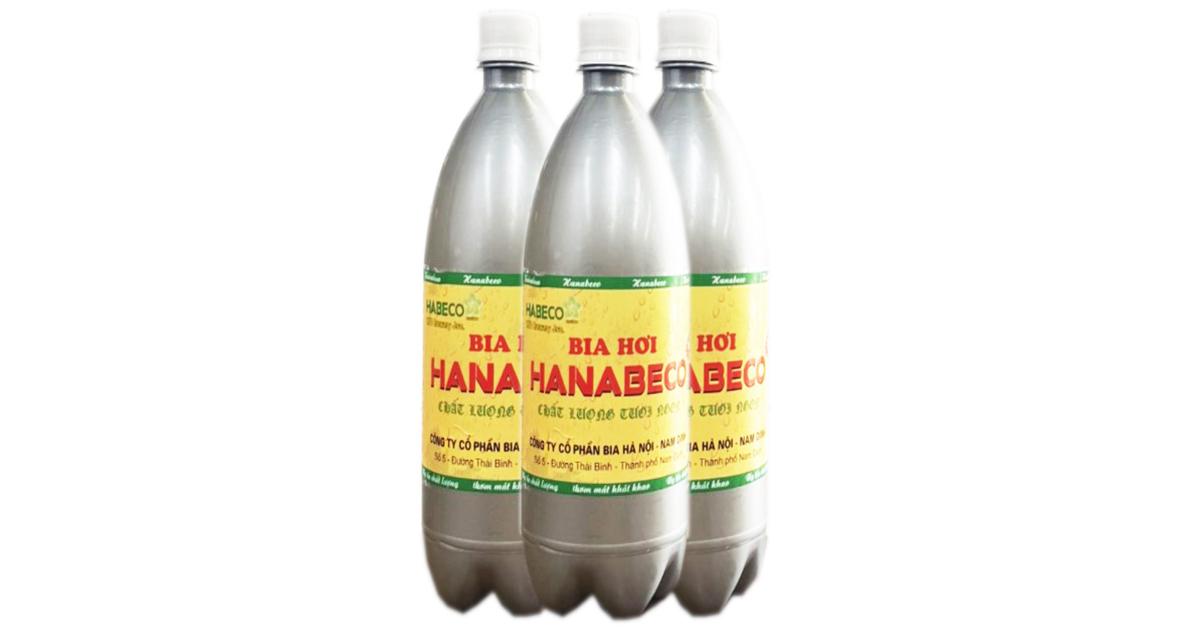 Bia hơi Hà Nội - Nam Định đóng chai 01 lít