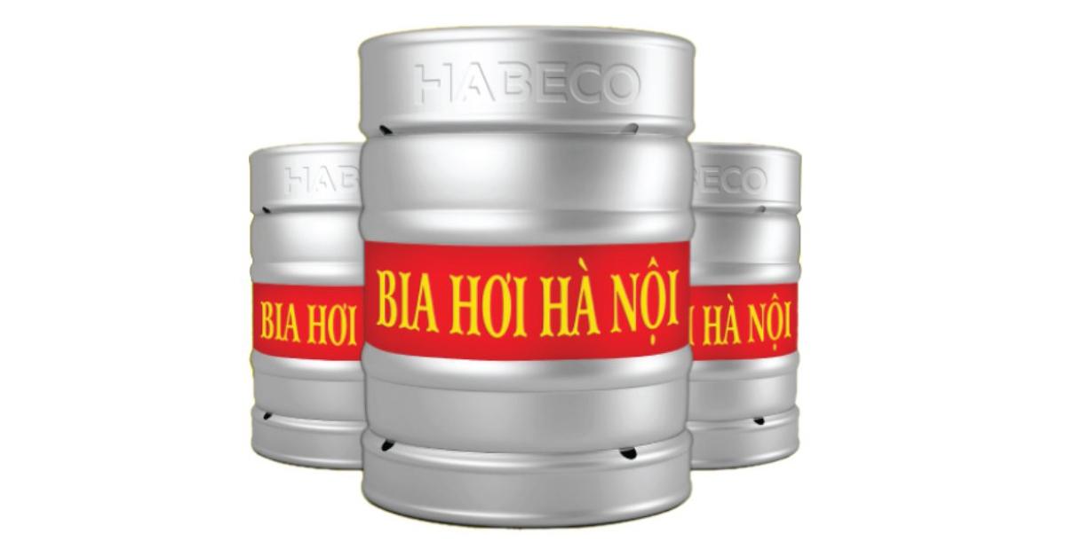 Bia hơi Hà Nội đóng keg 20 lít